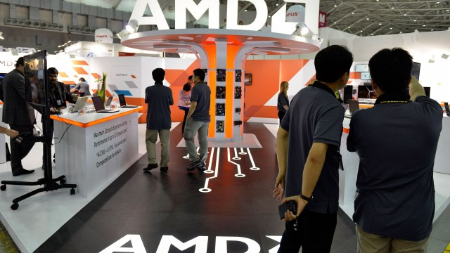 AMD stock touches highest price in 13 years, leads S&P 500 gains for year