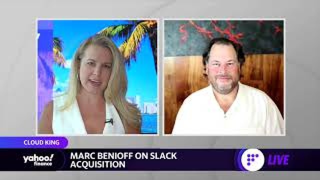 Salesforce CEO Marc Benioff discusses the company's record 1st quarter, Slack acquisition and more