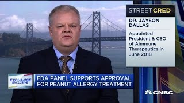 Watch CNBC's interview with Aimmune Therapeutics CEO on the company's peanut therapy